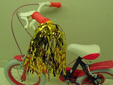 PAIR GIRLIE BIKE GOLD HANDLEBAR STREAMERS,IDEAL FOR ANY GIRLS CYCLE OR TRICYCLE