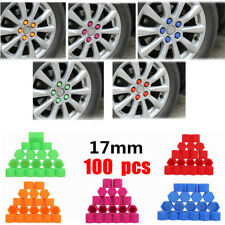 100Pcs Universal 17mm  Silicone Lug Bolt Nut Covers Caps for Car Wheel