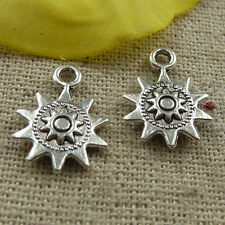 free ship 180 pieces tibetan silver sun charms 17x12mm #4288