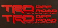 CHERRY RED TOYOTA RACING TRD TRUCK OFF ROAD 4x4 TUNDRA TACOMA DECAL SUV STICKER