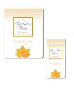 BASILDON BOND Champagne Post Quarto Writing Paper & Envelopes - 1 Pack of Each