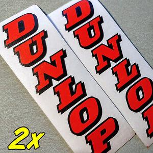 DUNLOP Neon RED Fork Decals moto gp racing zx 7 6 r 1 3 gsxr 636 600 Stickers