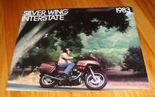 1983 Honda Motorcycle Silver Wing Interstate GL650 GL650I Foldout Sales Brochure