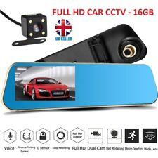 16 GB Full HD en Coche Espejo Retrovisor Cctv Seguridad Doble Cámara Grabadora Cámara en Tablero