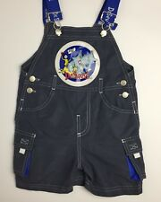 DR. SEUSS Boys Overall Shorts Grey Blue SAM I AM Sz 3T  PipRose