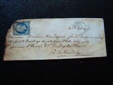 FRANCE - timbre yvert et tellier n° 15 obl (sur lettre accidentée) (Z7) stamp