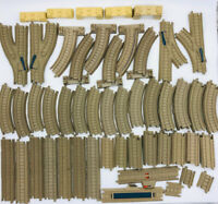 THOMAS TRACKMASTER 60pc Track Lot Tan Supports Switch Track for Motorized Trains