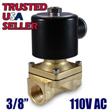 "3/8"" 110V AC Electric Brass Solenoid Valve Water Gas Air 110 VAC - FREE SHIPPING"
