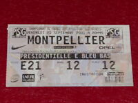 [COLLECTION SPORT FOOTBALL] TICKET PSG / MONTPELLIER 21 SEPT 2001 Champ.France