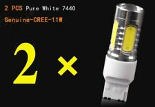 2x 7440 White 6000k Back Up Reverse Projector 12 Smd Chip Led Lights Bulbs
