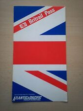 BRITRAIL PASS LEAFLET PRODUCED FOR AUSTRALIA