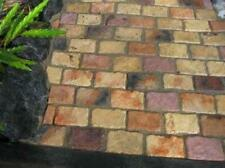 "6 CONCRETE COBBLESTONE MOLDS MAKE 100s OF 4x6x1.5"" PAVERS FOR PATIOS WALLS FLOOR"