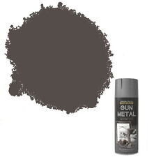 x1 Rust-Oleum Multi-Purpose Premium Spray Paint 400ml Metallic Gun Metal Grey