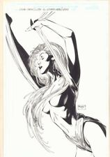 Topless Babe with Cloth Pin-Up - 1997 Signed art by Brandon Peterson