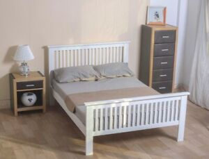 5FT King Shaker White Wooden Bed 99p No Reserve