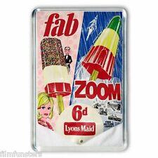 60's NOSTALGIA -THUNDERBIRDS - ZOOM / FAB ICE LOLLY ADVERT - JUMBO FRIDGE MAGNET