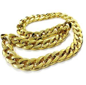 Chunky Gold Chain Necklace Blind Gangster Hip Hop Fancy Dress Costume Rapper UK