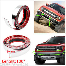 Car Bumper Door Edge Lip Guard Protector Chrome Silver Moulding Trim Strip 2.5M