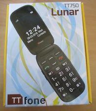 TTfone TT750 LUNAR MOBILE PHONE / EMERGENCY SOS / FLIP FOLDING BIG BUTTON / BLUE
