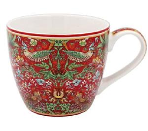 Breakfast Mug William Morris Red Strawberry Thief Design Gift Box Coffee Tea Cup