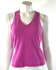 Athletic Works Tank Top Medium Pink V Neck Gym Workout Shirt Shelf Bra Womens