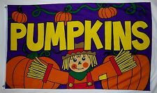 Scarecrow Pumpkin Patch Fall And Thanksgiving Flag 3' X 5' Indoor Outdoor Banner