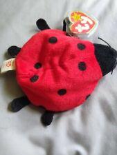 Ty Beanie Baby Lucky the Lady Bug Retired w/ Errors Pvc 1993 / 1995 -ten spots