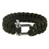 Men's Hiking Camping Paracord Rope Outdoor Survival Bracelet U Shaped Bucket