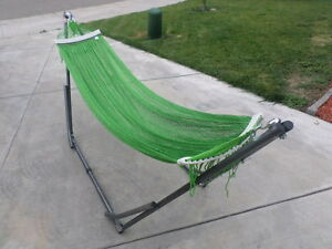 indoor/outdoor adult Hammock swing bed med duty metal frame for adult up to 80""