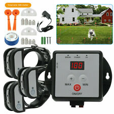 Wireless Electric Dog Fence 3 Dogs Pet Containment System Shock Collars 1/2 Dogs