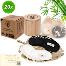 20x Reusable Bamboo Cotton Makeup Remover Pads by HEALTHY FAMILY™ Eco friendly♻️