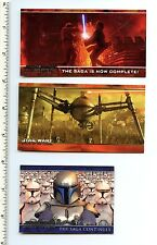 Star Wars Episode II Attack of the Clone Promo Card Lot of 3 P1 P2 P4 Topps