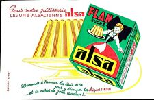 Ancien Buvard / Publicitaire // Flan  // Levure // ALSA
