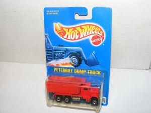 Vintage Hot Wheels Blackwall Blue Card #100 PETERBILT DUMP TRUCK, mint in pack