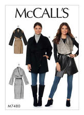 McCall's Sewing Pattern M7480 SZ 4-14 Misses' Shawl Collar, Wrap Vest and Coats