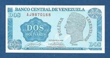 VENEZUELA -- 2 BOLIVARES ( 5.10.1989 ) -- UNC -- SERIE AJ -- PICK 69 .