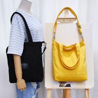 Women Large Capacity Handbag Canvas Shoulder Bag Travel Ladies Tote Shopping Bag