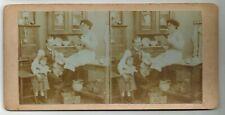 Stereoview photo stereo card risque near nude woman original c1900-1910s xx