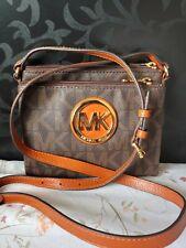 Michael kors crossbody brown crossbody handbag in excellent condition