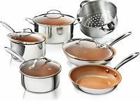 Gotham Steel Pro Chef Stainless 10 PC Non-Stick Titanium Copper Ceramic Cookware