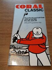 New listing Golf - Coral Welsh Classic 4th Round Programme, Royal Porthcawl 1981, Sandy Lyle