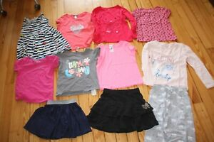 lot été fille 6 ans 6 t shirts 2 jupes 1 robe 1 pyjama