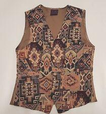 Vintage Hommes Aztèque Navajo Gilet Taille S Festival Fête incroyable Pattern