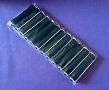 HAIRDRESSING ** 12 x BLACK EXTRA LARGE  PERM HAIR CURLERS/ ROLLERS RODS