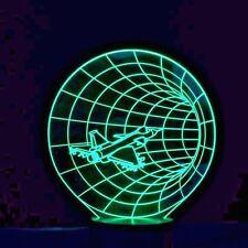 """Airplane F16"" 3D LED Night Lights Desk Lamp, Illusion Desk Lamp USB LED 7 Color"