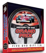 HISTORY OF THE GRAND PRIX GIFT TIN - 5 DVD SET FERRARI LOTUS SENNA AND MORE
