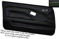 Verde Stitch 2x Completa Puerta Tarjeta Cuero Skin Tapa se ajusta Toyota Mr2 Mk1 Style 2