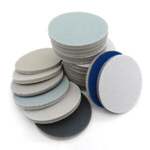 75mm Wet/Dry Foam Sanding Discs Hook&Loop Sandpaper Polishing Pads 400-3000 Grit