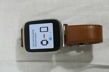 ASUS ZenWatch (WI500Q) Stainless Steel Case Brown Leather Loop - (WI500Q)