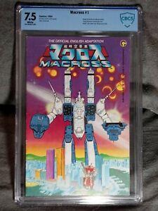 CBCS Graded 7.5 , Comico Macross No. 1, 1984, Robotech, Space Fortress Macross